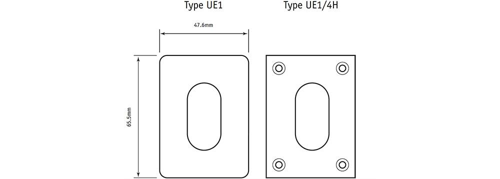 Union style oval escutcheons
